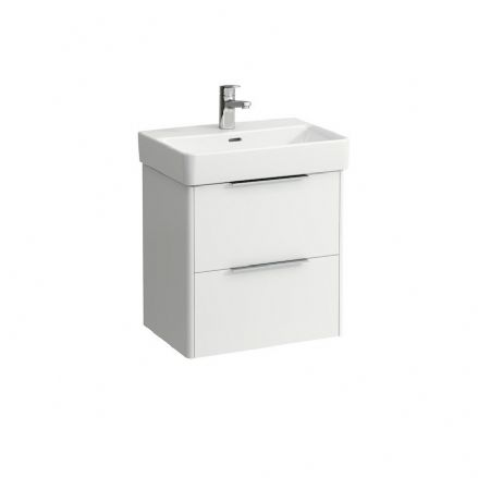 818958 - Laufen Pro S 550mm x 380mm Compact Washbasin (1TH) & Base Vanity Unit - 8.1895.8